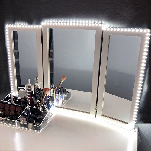 Rbaysale Led Vanity Lights - 13ft 240 LEDs Mirror Light Kit- 6000K Daylight White Hollywood Style LED Makeup Lights Strip for Vanity Dressing Table with Dimmer and Power Supply, Mirror not Included