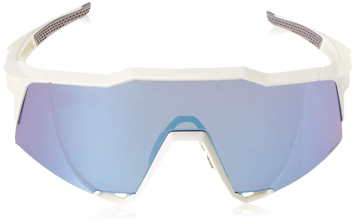 100% Unisex-Adult Speedlab (61001-000-75) Speedcraft-Matte White-HiPER Blue Multilayer Mirror Lens, Free Size) by 100% (Image #2)