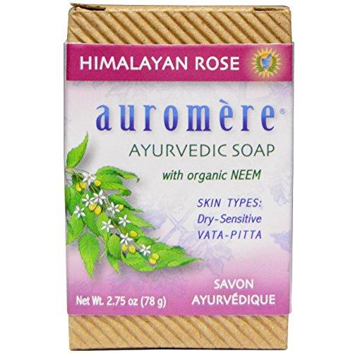 auromere-ayurvedic-soap-with-organic-neem-himalayan-rose-275-oz-78-g-2pc