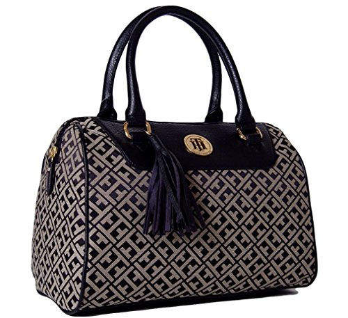 Tommy Hilfiger Signature Bowler Handbag Black Multi