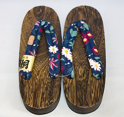 [Japon Made] Geta Paulownia bois Sandals traditionnel Chaussures Kouyou design Taille M