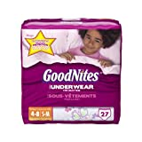 Health & Personal Care : GoodNites Underwear, Girls, Small/Medium, 27 Count