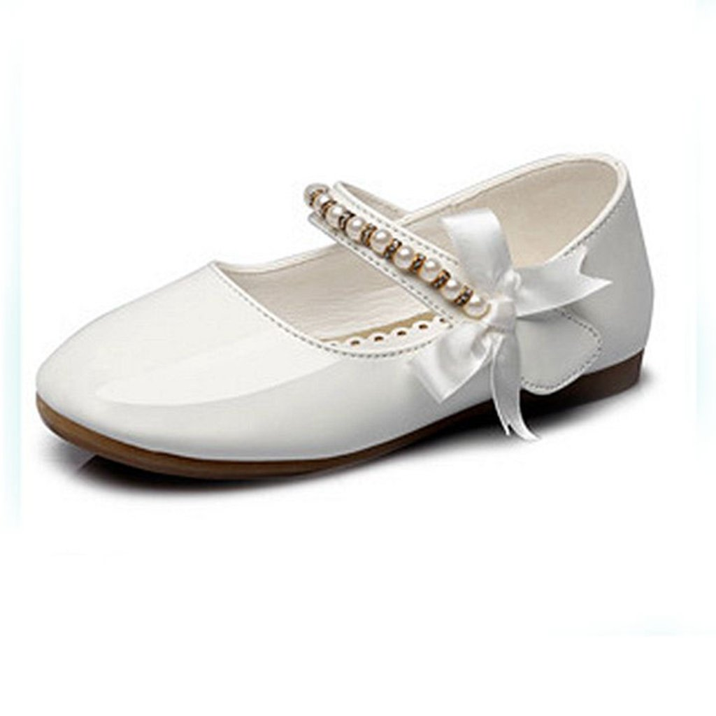 GIY Girls Adorable Mary Jane Side Bowknot Casual Slip On Ballerina Flat Shoes (Toddler/Little Girl/)