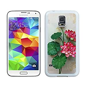 Cute Samsung Galaxy S5 Case Floral Flowers White Phone Hard Cover