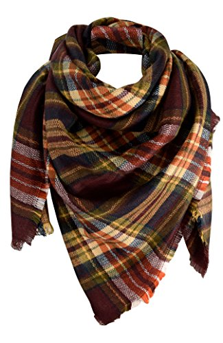 Peach Couture Tartan Oversized Blanket product image