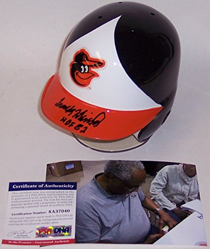 Frank Robinson Autographed Hand Signed Baltimore Orioles Mini Batting Helmet - with HOF 1982 inscription - PSA/DNA