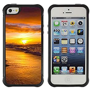 Pulsar Defender Series Tpu silicona Carcasa Funda Case para Apple iPhone 5 / iPhone 5S , Sunset Sea Beautiful Nature 18