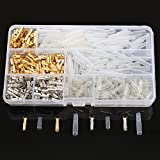 Ninth-City 100 Sets 3.9mm Car Truck Motorcycle Quad Bike Brass Male & Female Bullet Terminals Wire Connector & Male female Insulation Covers