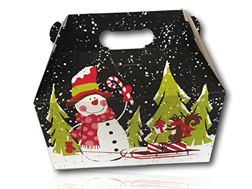 Limited Edition Christmas Holiday Gift Package by AtHomePlus (34 Count) --Perfect Present for Family, Friends, or Office!! (Chalkboard Snowman) (Gift Baskets Delivered Next Day)