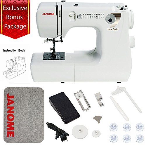 Janome Jem Gold 660 Sewing Machine w/3-Piece Bonus Kit (Janome Sewing Kit)