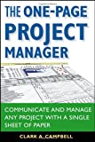 The One-Page Project Manager, Clark A. Campbell, 0470052376