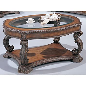 Coaster Home Furnishings 3892 Traditional Coffee Table Brown