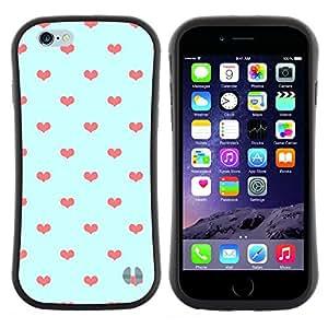 "Pulsar iFace Series Tpu silicona Carcasa Funda Case para Apple (4.7 inches!!!) iPhone 6 Plus / 6S Plus ( 5.5 ) , Azul anaranjado del lunar Amor"""