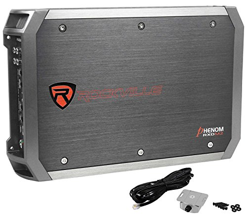 Rockville RXD-M2 3000 Watt/1500w RMS Mono Class D 1 Ohm Amplifier Car Stereo Amp (Mono 1600 Amplifier Watt)