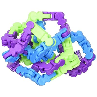 Twiddle Fidget Toy in Multiple Colors, Over 2' of Fun Novelty, Blue, Green and Purple: Toys & Games