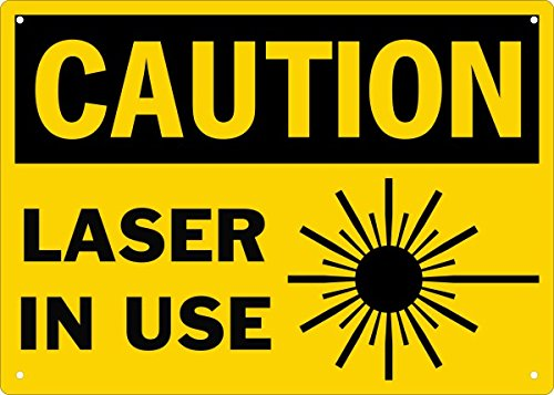 Compliance Assistance Caution Laser in Use Safety Sign-5X7-6-Pack Decals