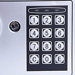 HOMDOX Safe Deposit Box, Digital Electronic Security Box with Deadbolt Lock Wall-Anchoring Design