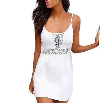 6ea84b6f2882e Damen Sommerkleid Kurze Strandkleid Sexy Minikleid Strandk Neckholder Kleid  Partykleid Ärmellose Bodycon Kleid