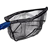 "Heavy Duty Koi Pond Sludge/Skimmer 18"" Net, with Telescopic Pole to 9 Foot"