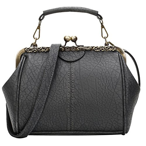 Pu Abuyall paule Sac Bandouli¨¨re Retro Minimaliste Dames Kiss Cuir Diamants Satchel Totes Lock Cha Purse Pt2 Sac Sac Main Appliques nes Sqfqt