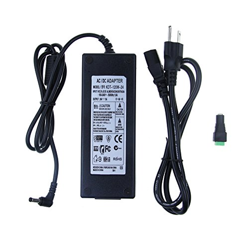 ALITOVE AC 100-240V to DC 24V 5A Power Supply Adapter (Output 24v Transformer)