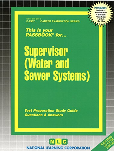 Supervisor (Water & Sewer Systems)(Passbooks)