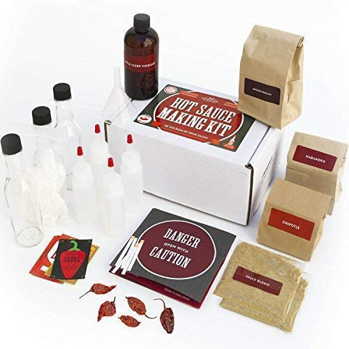 Deluxe Hot Sauce Kit (Ghost Peppers 5X!!!) Featuring Heirloom Peppers From 5th Generation Farmers, A Full Set Of Recipes, Storing Bottles & More! (Deluxe) by DIY Gift Kits (Image #7)
