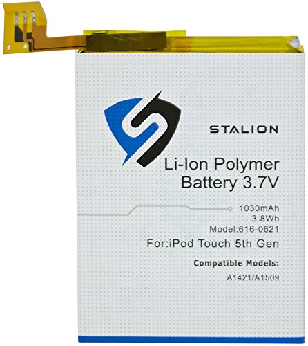 iPod Replacement Battery: Stalion Strength Li-Polymer Battery 1030mAh 3.7V for Apple iPod Touch 5 (5th Generation)(APN: 616-0621: Apple Model A1421 / (Ipod Touch Battery Replacement)