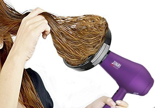 Jinri Salon Grade Professional Hair Dryer 1875W DC Motor Negative Ionic Ceramic Far Infrared Blow Dryer With 2 Speed and 3 Heat Settings Cold Shot Button, Diffuser and Straightening Comb Pik(violet)