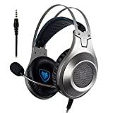 Gaming Headset, NUBWO Wired Gaming Headphones with Microphone and Volume Control for PC/Ps4/Xbox one 1 /Phone/Laptop: more info