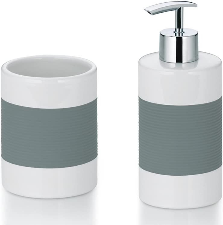Kela Becher LALETTA Keramik 5 Farben Zahnbürstenbecher Zahnbürstenbehälter Bad