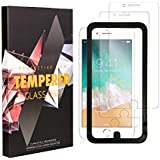A&B Traders' Screen Protector for Apple iPhone 8, iPhone 7, iPhone 6, iPhone 6S Tempered Glass Screen Protector with Installation Frame kit, super 9H Hardness and 100% Clarity, Anti Fingerprint and Sc