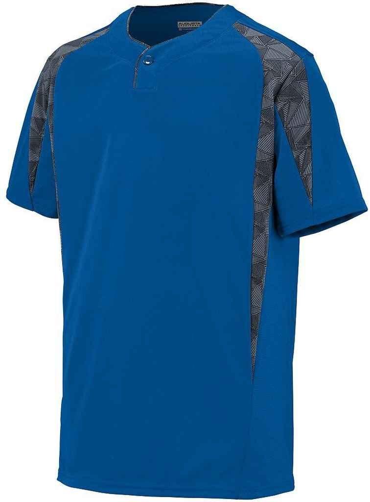 Augusta Sportswear Boys 'フライボール野球ジャージー B00PGZQ1M0 Large|Royal/Graphite/Black Print Royal/Graphite/Black Print Large