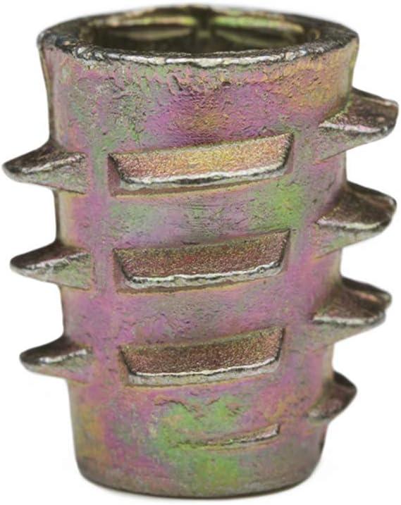 E-Z LOK M4 M5 M6 M8 M10 Die Cast Zinc Hex Threaded Insert Wood Flanged