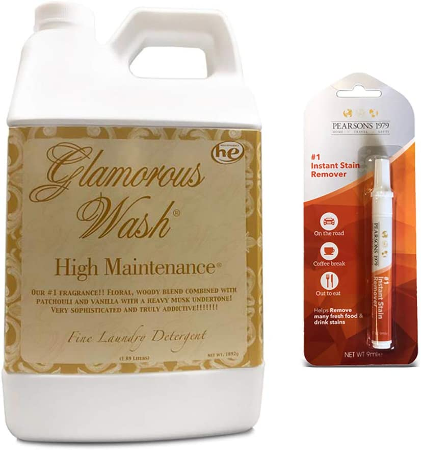 Tyler HIGH Maintenance Glamorous Wash Laundry Detergent - Half Gallon/ 64oz - (Bundled with Pearsons Stain Remover Pen)