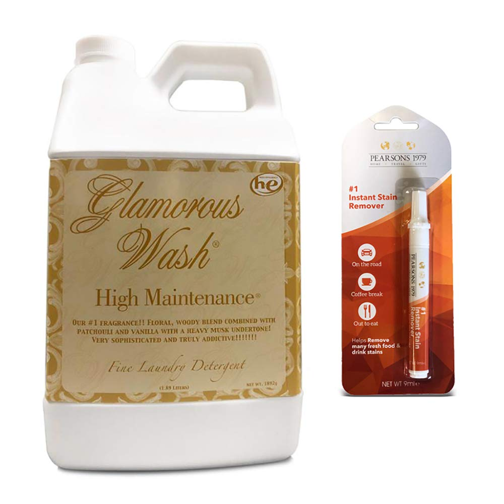 Tyler HIGH Maintenance Glamorous Wash Laundry Detergent - Half Gallon/ 64oz - (Bundled with Pearsons Stain Remover Pen) by Tyler Candles