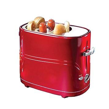 EFIGW Tostadora Inicio Mini Desayuno Máquina De Salchichas Automática Máquina De Perro Caliente Tostadora Panificadora En