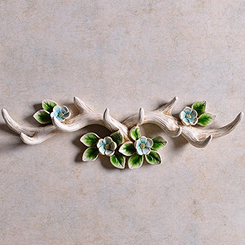 Art Life Resin Twig Wall Hooks Camellia Wall Hanger Rack Vintage Decor
