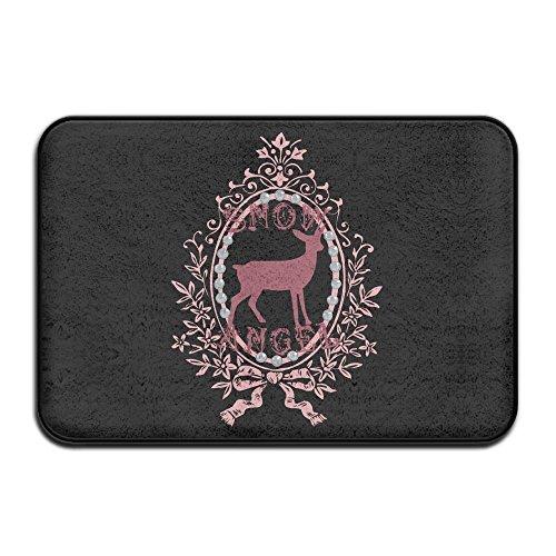 Baerg Door Mat Snow Angel Deer Non-Slip Stain