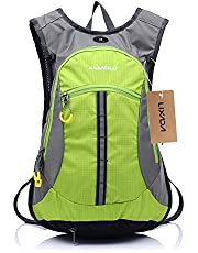 Lixada Bike Backpack 15L Bicycle Shoulder Backpack Waterproof Breathable Rucksack for Outdoor Travel Riding Hiking Mountaineering Climbing with Rain Cover