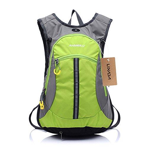 ANMEILU 15L Waterproof Cycling Backpack Men Women Shoulder Outdoor Bike Riding Mountain Bicycle Travel Hiking Camping Running Water Bag Green