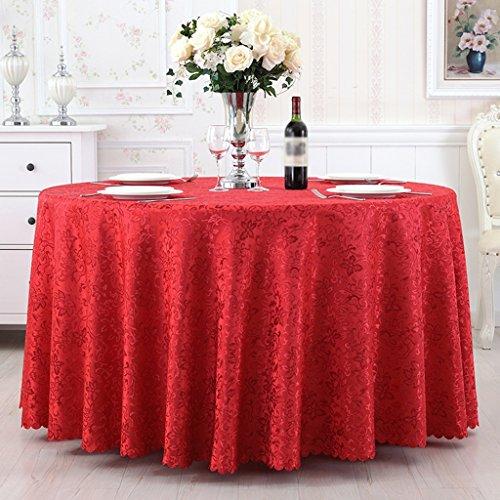 Rouge 280cm diameter Toile de table, Tissu de grande taille Tissu de table en tissu Simple Antifouling Modern Home Hotel - Rectangle   Rond - Or   Violet   Rouge ( Couleur   Rouge , taille   280cm diameter )