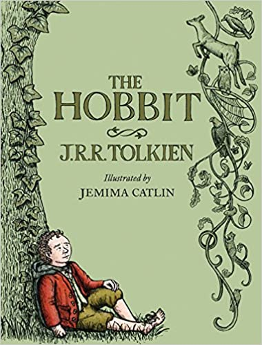Tolkien Illustrated by J Hobbit By J.R.R Catlin Cloth Bound Hardcover Gift