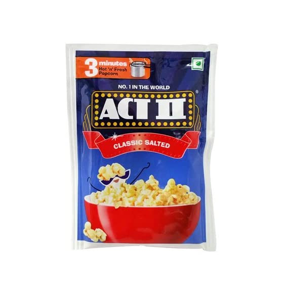 Act II Classic Salted Flavour 3 Minutes 40gm (Pack of 10)