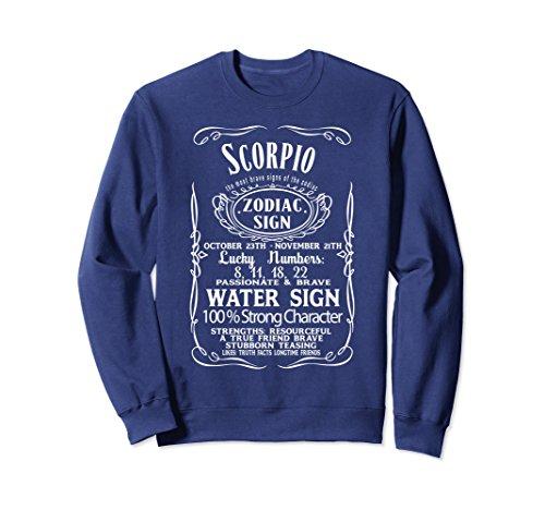 (Unisex ZODIAC SIGN SCORPIO Horoscope Astrologie Sweatshirt Small Navy)