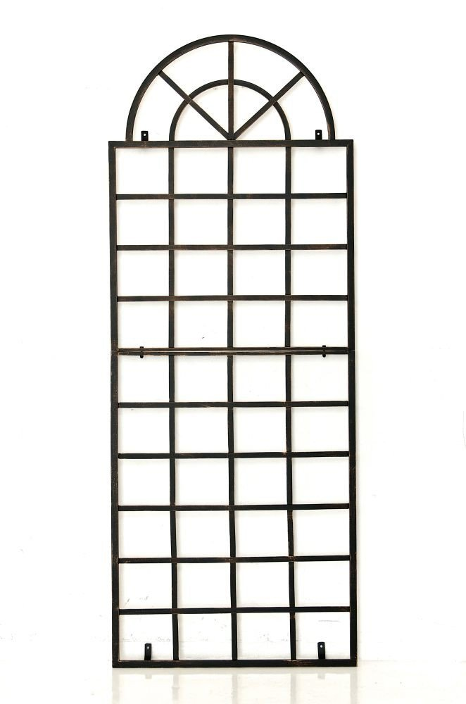 CLP Wall mountable Trellis VIVA in iron, support for climbing plants, 180 x 70 cm, to choose bronze