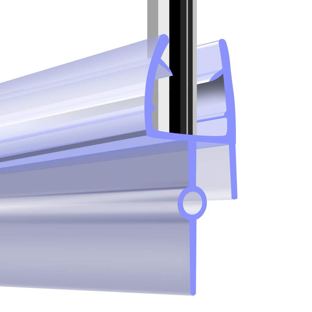 Tira para puerta de bañ o de ducha, 2,7 m de longitud, cristal de 4 a 6 mm de grosor, sellos de 8 a 26 mm Mejauk