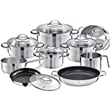 Silit by WMF 14 Piece Achat Cookware Set, Large, Silver