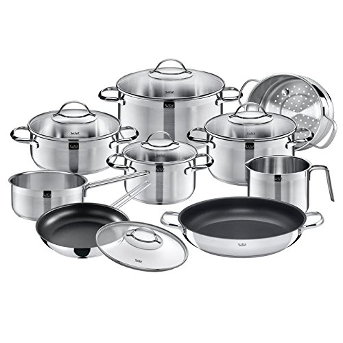 wmf silit achat 14 pc cookware set 18 10 stainless steel cookware set ebay. Black Bedroom Furniture Sets. Home Design Ideas