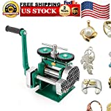 Milling Machines, Feiuruhf Manual Rolling Mill Machine Roller Width 85mm Manual Combination Rolling Mill Machine Jewelry Press Tabletting Tool for Jewelry Design & Repair
